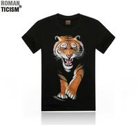 2014 mens digital 3d printed shorts sleeve cotton t shirts skull animal printing tee t-shirt hip hop blouses tops 20 style