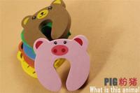 Cute Animal Designs Baby Safety Door Guard Finger Children's Cartoon Baby Door Stopper Door Clamp Pinch Hand with Security Card