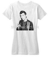 Alex Turner Smoking T-Shirts 2014 New Women T-shirt 100% Cotton Customized Logo Free Shipping