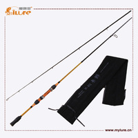 Free Shipping High Carbon Spinning Fishing Rods 2.10M 7'Golden Color 2 Section Rod