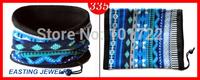 Chinese Wholesale Winter Warm Blue Strip Magic Scarf