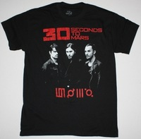 30 SECONDS TO MARS WORLD TOUR Rock Band t shirt Men T-shirts100% Cotton Short sleeve16 Colors Customized Logo Free Shipping