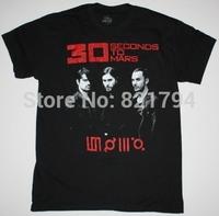 30 SECONDS TO MARS WORLD TOUR Rock Band t shirt Men T-shirts100% Cotton Short sleeve16 Colors Customized Logo Free Shipping