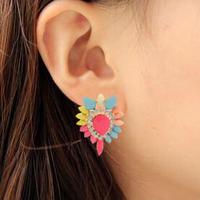 heart shaped Statement earrings elegant love heart acrylic Dangle Earrings women high quality accessories