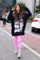 doom dadada Korean roommate forest Jenna nana same paragraph printed long-sleeved sweater hip hop exo hoodie bts hoodie kpop