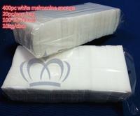 TOP FAITH,white color Magic Sponge Eraser Melamine Cleaner sponge,100x60x10mm, Cleaning, retail packed(20pc/bag) , 400pcs/lot