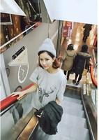New 2014 Summer Fashion Cotton Deer Printed  Short Sleeve O-neck Loose Casual Tee Tops girl t shirt women Free Shipping  236