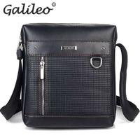 2014 new arrival PU leather man messenger bag lowest price men business shoulder bag high quality man formal bag freeshipping