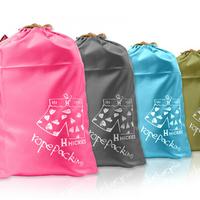 Fashion Creative Travel Storage Bags 3 pieces Set Oxford Digital Drawstring Pouch Home Organizer Sorting Bag Wash Bag Shoe Bag
