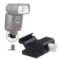 "Hot Shoe Flash Light to Bracket Stand Mount Adapter 1/4""-20 Tripod Screw"