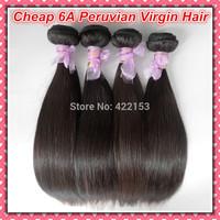 1 Bundle of  Cheap Peruvian Virgin Hair Straight Extensions,Unprocessed Human Hair Weave