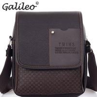 2014 new PU leather men business shoulder bag man messenger bag high quality man formal bag free shipping