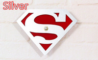 Free Shipping 1Piece Big Needles Superman Metallic Quartz Modern Wall Clock for Home Decoration