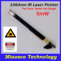 Free Shipping 1064nm Infrared Laser Pointer, 5mW IR Laser Pointer Pen, Stable Output, Tail Safety Lock Design.
