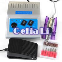 Blue 30000 RPM Pro Electric Art Nail Drill File Improved Overheat Vibration Manicure Set EU /US Plug kit 524 Free Shipping