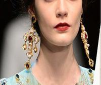 Fashion Statement Jewelry luxurious Gothic cross drop earrings inlay CZ jewelry baroque trendy