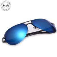 Excellent polarized Sunglasses Aluminum Magnesium Alloy Frame 3 Colors sunglasses men polarized