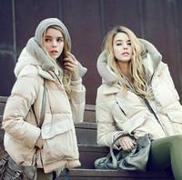 Free shipping fashion women down coat casual short hooded warm woman's winter coat high quality big pocket winter jacket   LW284