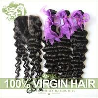 Peruvian Deep Wave With Closure Unprocessed Peruvian Curly Virgin Hair 3 Bundles Add 1Pcs Lace Closures Cheap Natural Black Hair