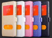 Dual View Windows Flip Leather Case for HTC Desire 816 5.5''dual sim Premium Stylish Silk Pattern High Quality