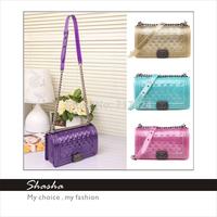 luxury c 2.55 Korean Style Children Fashion Leather Handbags Lady women minil totes metal chain shoulder bag jelly shining bag