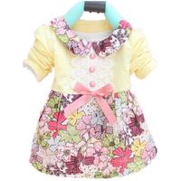 Toddler Baby Girls Floral Princess Dress Bowknot One Piece Kids Dress Dress 0-2YFree&Drop Shipping