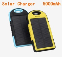 NEW portable solar charger 5000mAh solar power bank usb for GPS MP3 PDA Mobile Phone free shipping