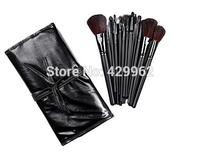 18 fiber synthetic Hai brush set kits with pu bag high quality wholesale  1set