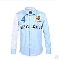2014 new autumn and winter long-sleeved shirt shirt mens dress shirts cotton shirt 3 color free shipping men shirt casual shirts