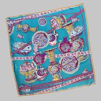 2014 Women's New 100% Silk Square Scarf Inkjet Printed , Lengthen Elegant lager silk scarf women