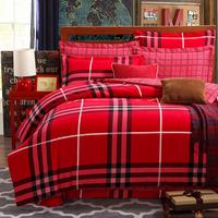 5-pieces 3d queen king size comforter set/quilt/duvet set bed in a bag red bedding lattice duvet cover woman comforter