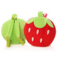 Free shipping Cute children cartoon kindergarten kids school baby plush fruit backpack girl bag plush doll toy gift 1 pc
