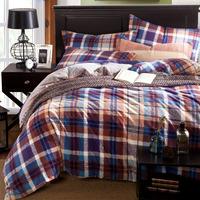 5-pieces 3d queen king size comforter set/quilt/duvet set bed in a bag purple bedding purple lattice duvet cover man comforter