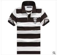 Free shipping Men's  Summer 100% Cotton stripe t shirt Top quality tshirts men plus size M L XL XXL XXXL XXXXL