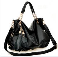 Free shipping!Women's fashion high quality PU leather handbag women's classic leather fringed messenger bag, single shoulder bag