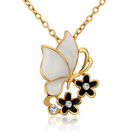 Dream Catcher Collares 2014 Butterfly Necklaces & Pendants 18K Gold Plated Women Necklace Fashion Jewelry Wholesale 18KGP N693