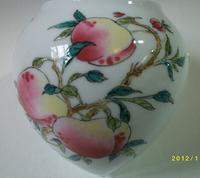 ES010 Jingdezhen China ceramic bird feeder cup, heart shape,Shoutao design,3Pcs one sets,Free shipping