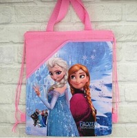 N STOCK Free shipping 10pcs/lot personality frozen girls Draw string children School bag backpack,best XMAS GIFT