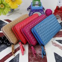 Special Promotion Free shipping couple of new hand-woven lattice pattern purse/wallet/handbag for women bolsas carteira feminina