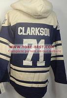 #71 David Clarkson Jersey Black White,Ice Hockey Jersey Hoodie, Hooded Sweatshirt,Best quality,Embroidery logos,Size M--XXXL,