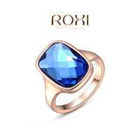 ROXI 2014 Women's Rings Austrian Crystals Fashion golden Accessories Wedding Rings 300 Free Shipping