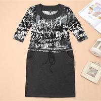 M-XXXL Plus Size Russian Dress 2014 New Vestidos Femininos Women Long Sleeve Cotton Autumn Winter Dress Casual Dress AR002