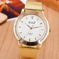 High Quality 2014 New Fashion Geneva Watches Women Analog Rhinestone Dress Wristwatches Casual Watch Women Men Unisex Gifts Hot