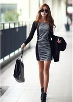 2014 Hitz Korean temperament skirt qiu dong new big yards long sleeve dress bottoming dress free shipping