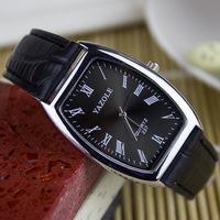 Promotions Fashion Metal strap Rectangular Dial Free Shipping Couples Luxury Quartz Wrist Watch Men & Women Watch