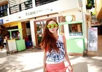 New 2014 Summer Korean Women Camis&tank Tops Cotton Sexy Beach Tiger Print  O-neck Skinny Casual Tank Free Shipping 940