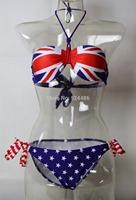 Halter British style swimwear  British flag bikini Free shipping