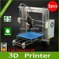 DHL Free Shipping 3PCS Original Newest  Aurora Impressora 3D printer DIY kit Z605 Self-assembly 3D Reprap
