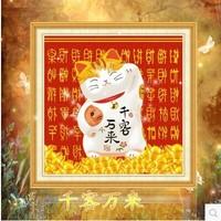 Free shipping 5D diamond Painting Diy kit Round diamond paste diamond draw Home Decoration Lucky Cat