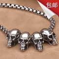 Fashion vintage skull necklace pendant male titanium accessories personality punk necklace male